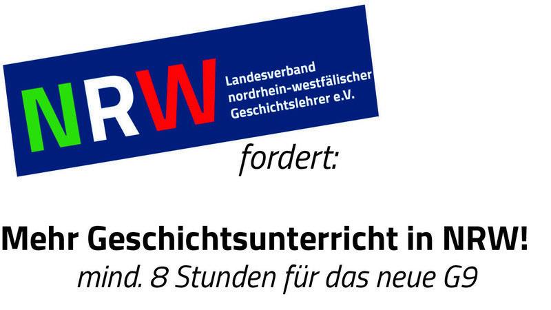 Mehr Geschichtsunterricht in NRW! Onlinepetition des Landesverbandes NRW