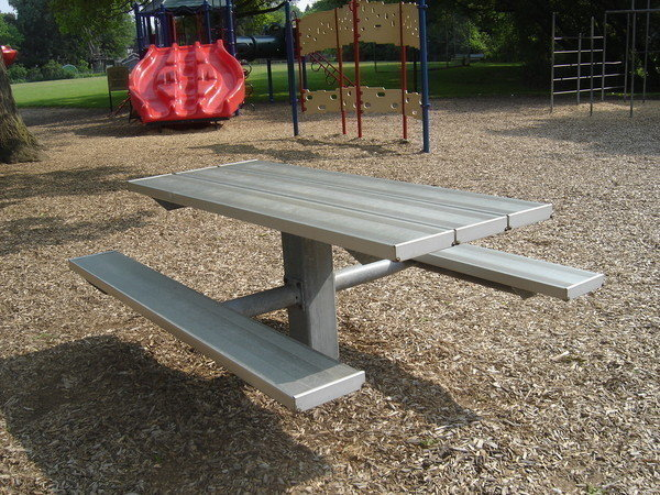 Petition Indian Landing School Remove Metal Picnic Tables From - Playground picnic table