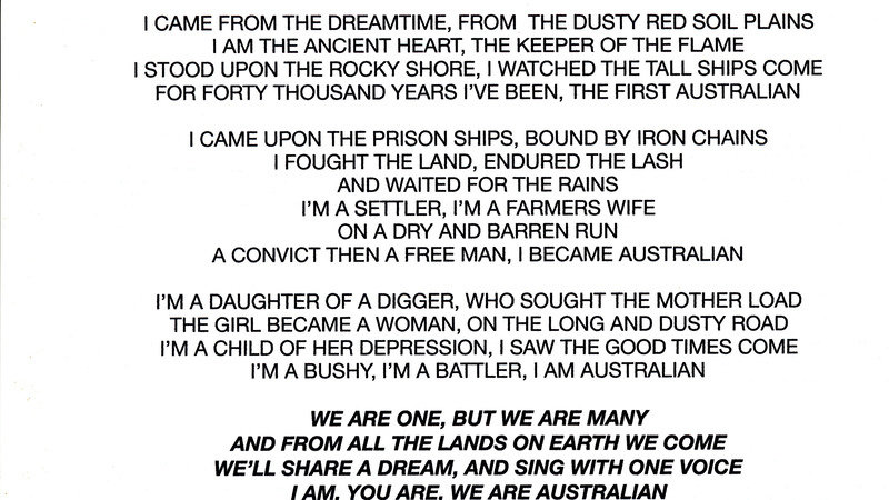 Petition · Malcolm Turnbull: Change our National Anthem