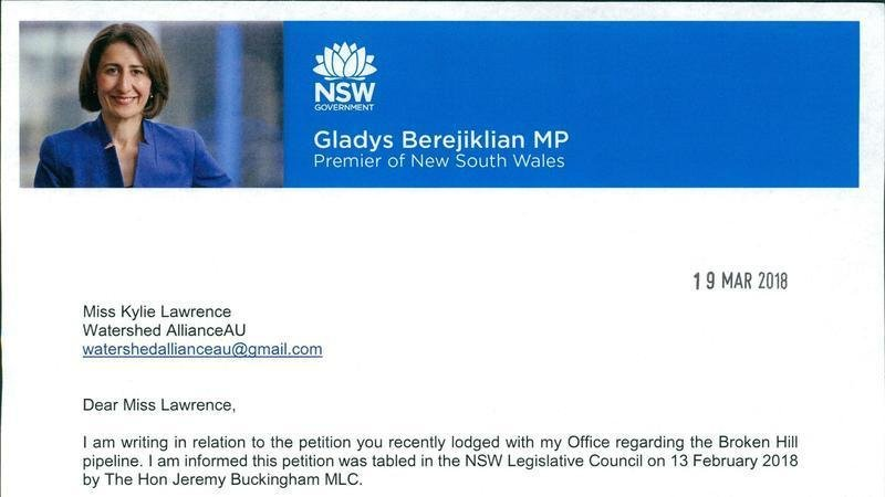 Petition update · NSW Premier Finally Responds to