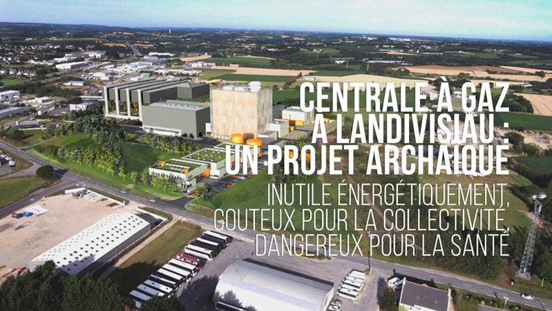 Pour l'abandon du projet de centrale à gaz à Landivisiau (29)