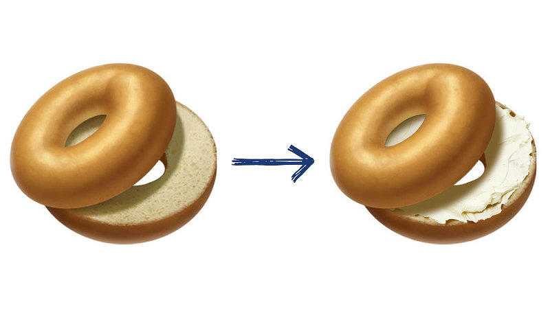Petition · Get cream cheese added to the bagel emoji