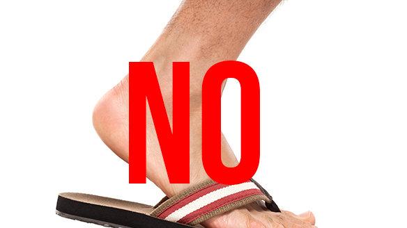 1f8586923 Petition · Tim Gunn  Men shouldn t wear flip flops outside unless near a  body of water. · Change.org