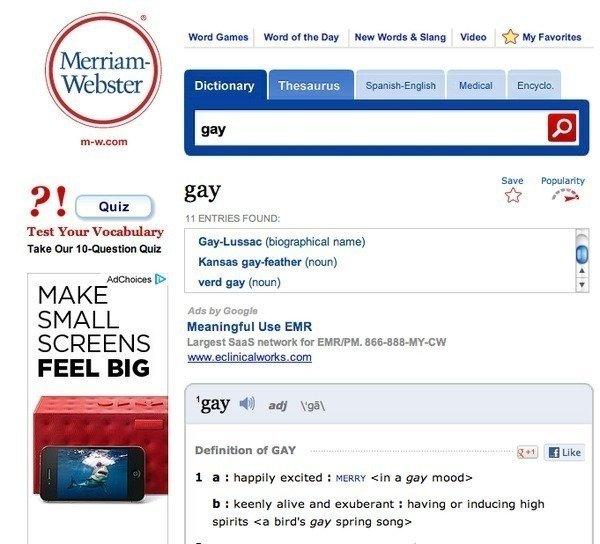 Homosexual discrimination definition webster