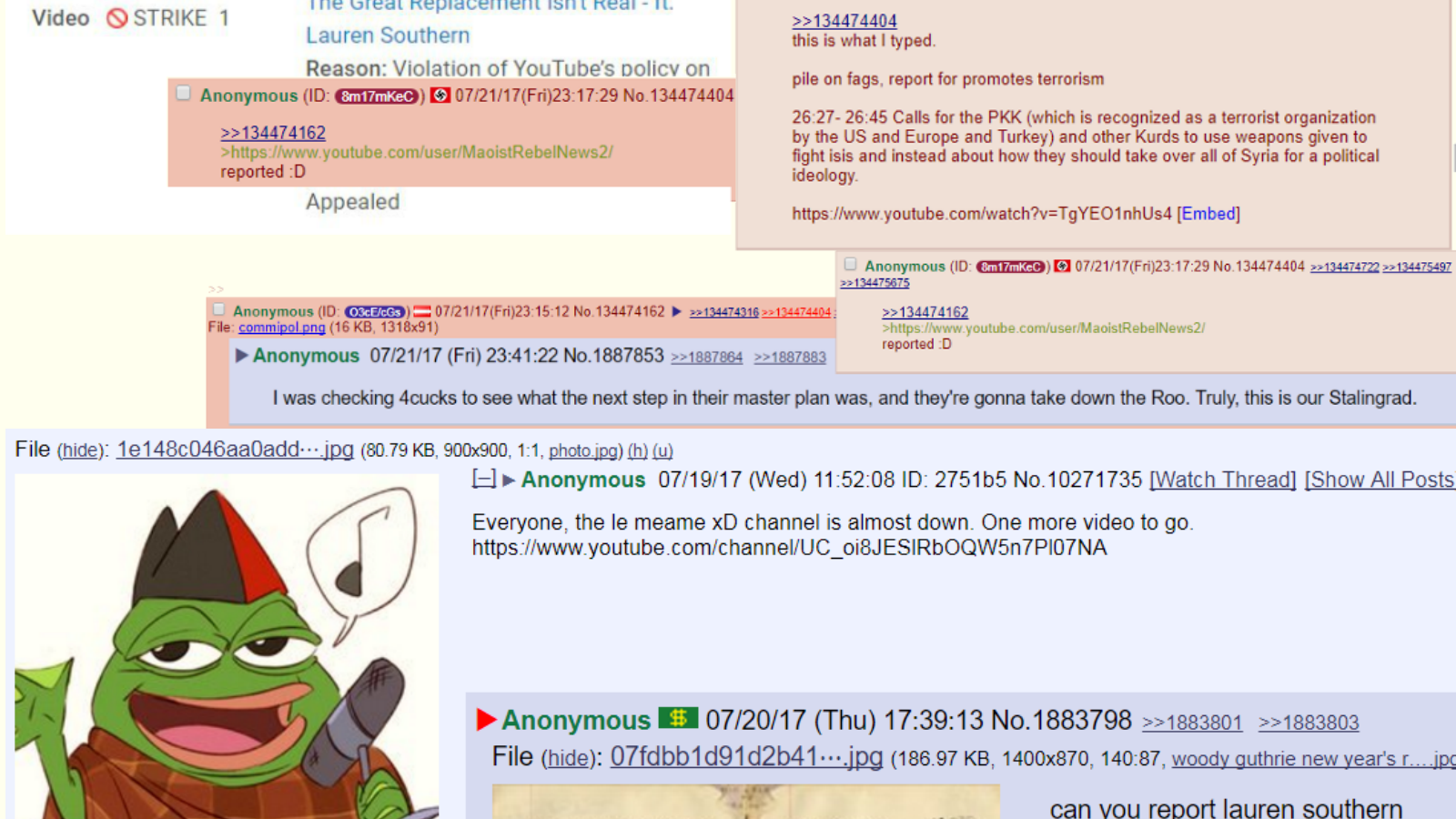 8chan: Petition · YouTube: Youtube: Sue 4chan & 8chan To