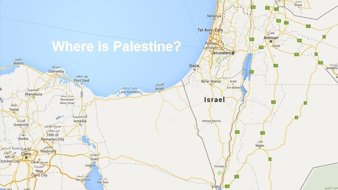 Petition Google Inc GOOGLE Put Palestine On Your Maps - Map of egypt google maps