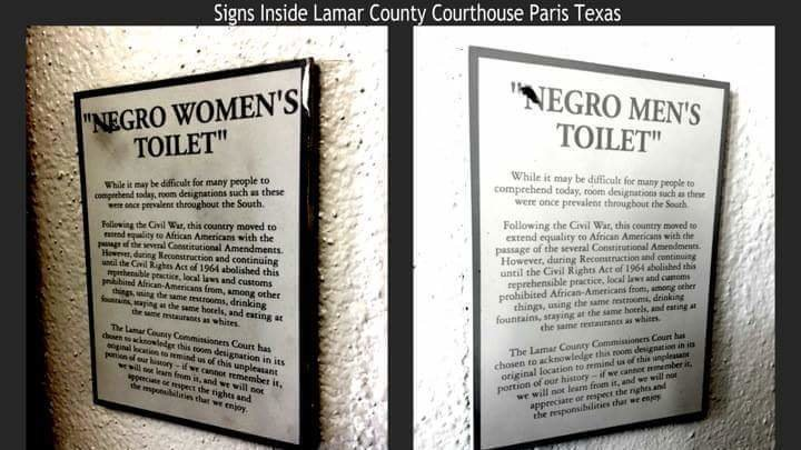 Bathroom Signs History petition · lamar county commissioners courthouse : removing the