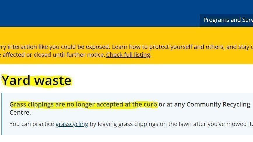 Petition Continue Grass Clipping Waste Pickup In Peel Region Change Org