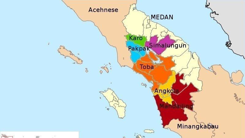 Peta etnis Batak di Sumatera Utara