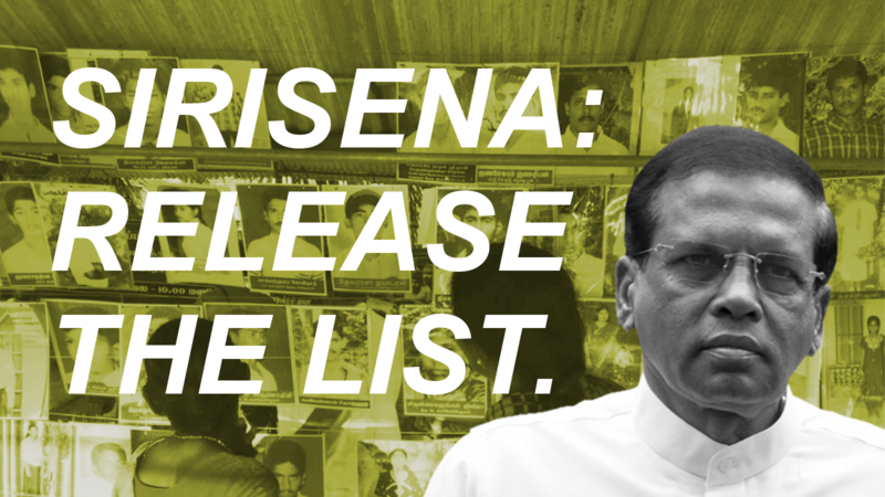 Release the list of all those who surrendered or were detained during…