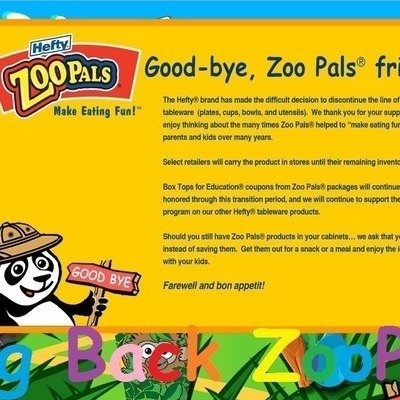 Petition Hefty Bring Back Zoo Pals Change Org