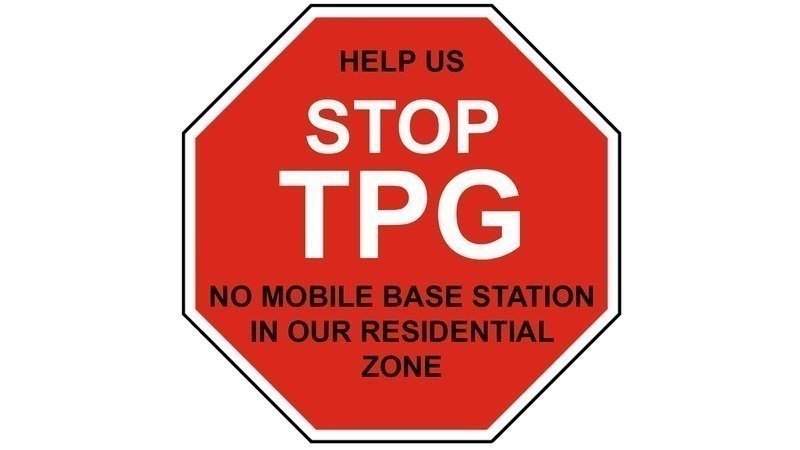 Petition · Stop the TPG Mobile Phone Base Station at 885