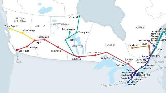Map Of Canada Via Rail.Petition Via Rail Make More Canada 150 Viarail Youth Passes