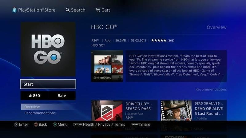 Sony Playstation free hbo go accounts