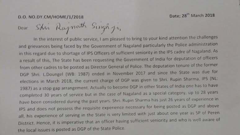 Petition · Naga people Seek to Retain Honest Officer DGP