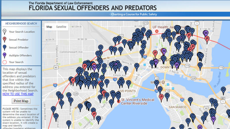 state of florida sex offenders database in Seattle