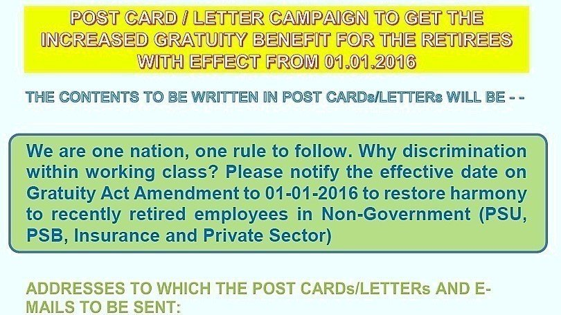 Petition update · COPY OF LETTER ADDRESSED TO PM/FM/LABOUR MINISTER