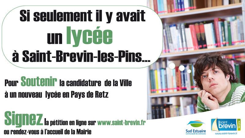 Pornic - 13/03/2018 - Pétition pour un Lycée à Saint Brevin