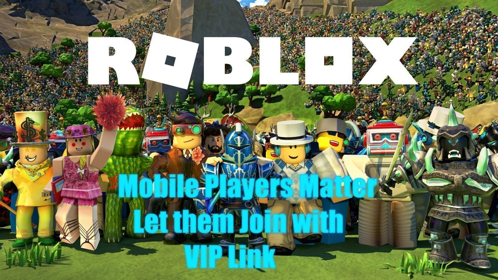 How To Change The Background On Roblox Mobile Petition Roblox Let Mobile Players Join Vip Server With The Link Change Org