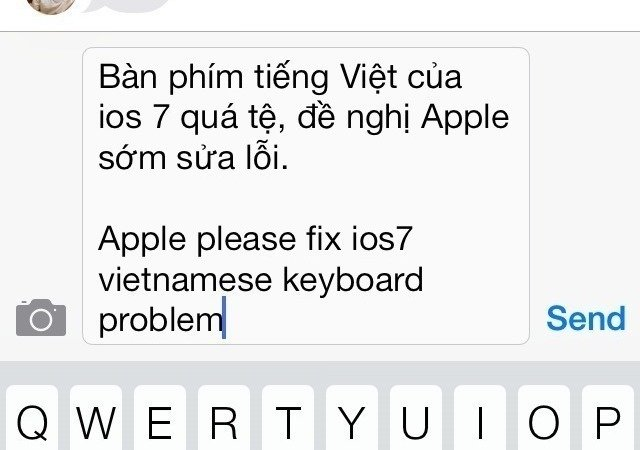 Petition · Tim Cook: Fix Vietnamese keyboard on iOS7