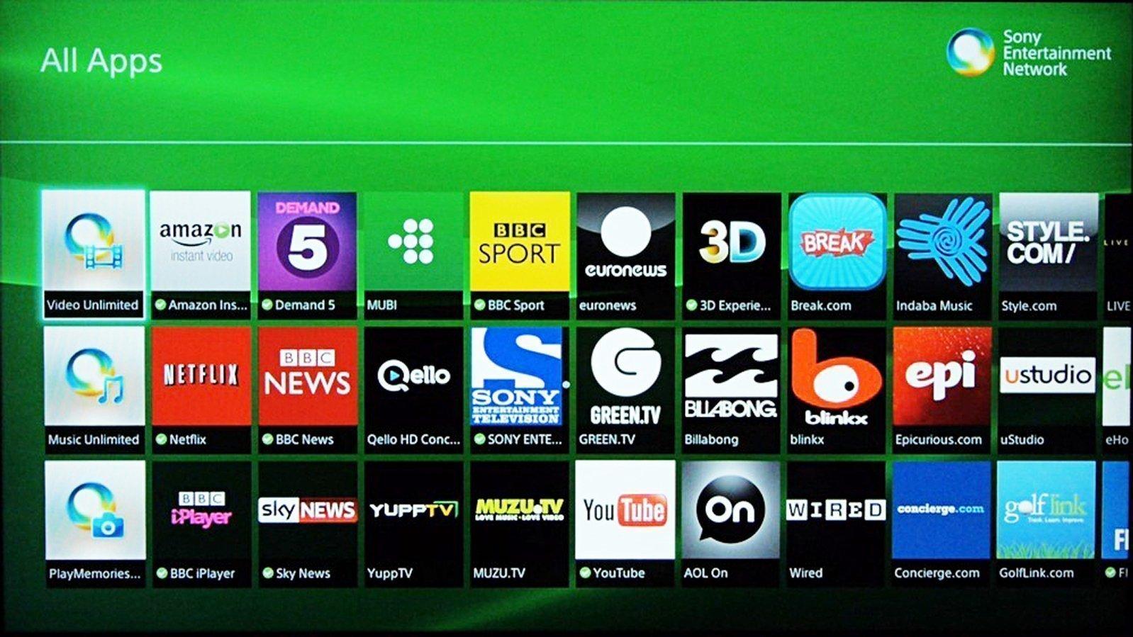 Sony Smart Tv Apps Store