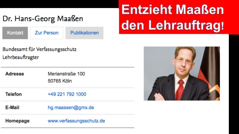 Petition · Freie Universität Berlin: Entzieht Maaßen den Lehrauftrag ...