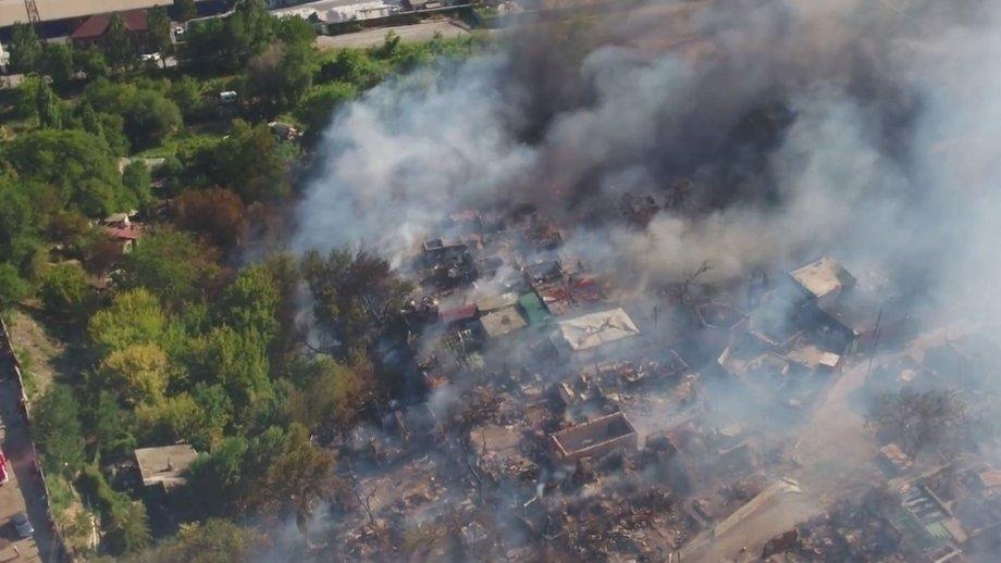 Днем 21 августа в ростове-на-дону загорелся частный дом.