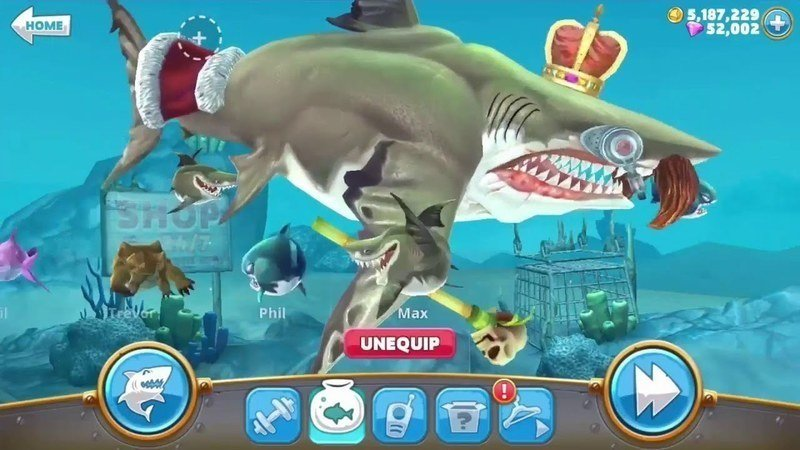 how to get free gems on hungry shark world