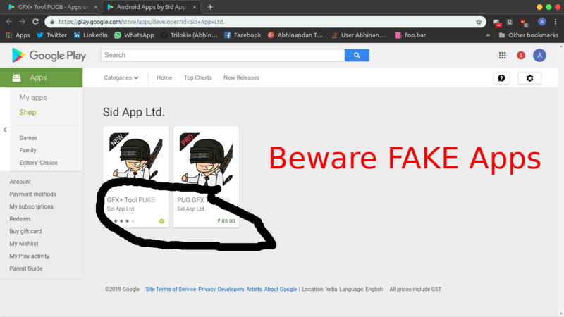 Petition update · Beware of Fake PUB GFX Apps on Google Play