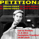 No Adorno  Award for Anti-Semite Judith Butler