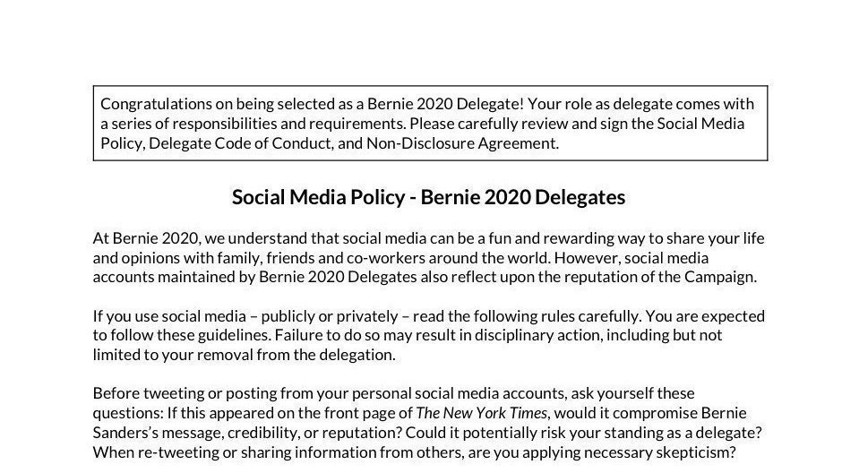 Petition Berners Against Delegate Supression Censorship Change Org
