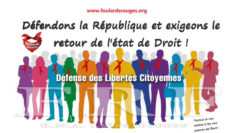 grande collection convient aux hommes/femmes modèle unique Pétition · Foulards Rouges - Défendons la République et ...