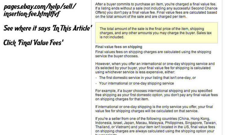 Ebay Insertion Fee >> Petition Stop The Final Value Fee On Shipping Charge