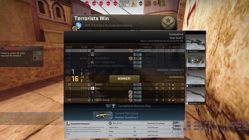 matchmaking high ping cs go
