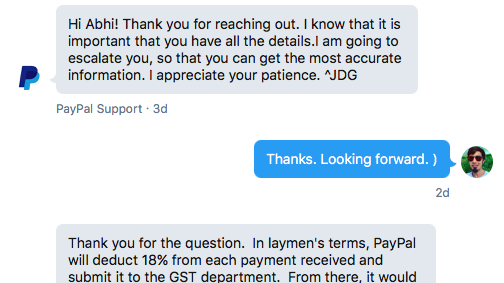 Paypal Chat Support