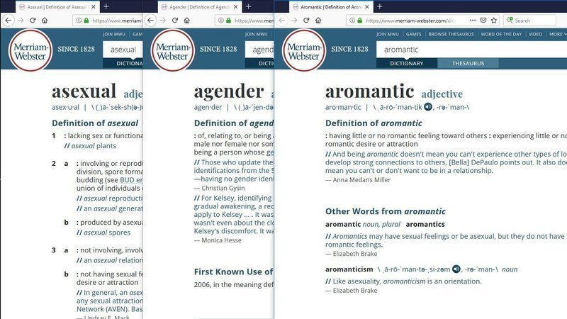 Petition update · Aromantic has been added to the dictionary